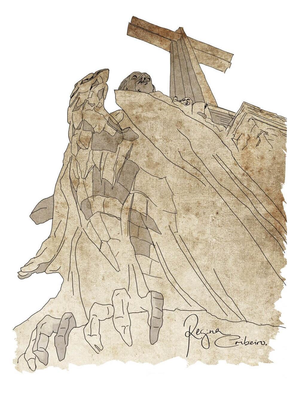 Ilustración del Valle de los Caídos, afectado por la Ley de Memoria Democrática